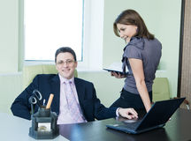 Business team working in office room Stock Photo