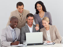 Business team working in office together Stock Photos