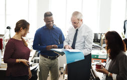 Business Team Working Office Worker Concept Stock Photography