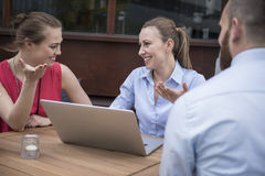 Business team working outdoors Stock Photography