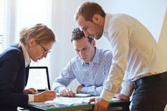 Business team working on a project, teamwork Royalty Free Stock Photo