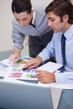Business team working on sales statistic Royalty Free Stock Images