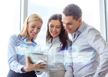 Business team working with tablet pc in office Royalty Free Stock Image