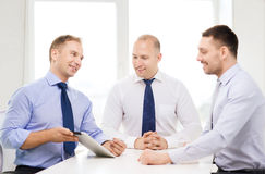 Business team working with tablet pc in office Royalty Free Stock Photo