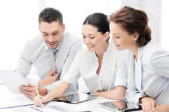 Business team working with tablet pcs Royalty Free Stock Photo