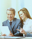 Business team working on their business project together Royalty Free Stock Photography