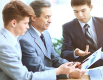 Business team working their business project together at office Stock Photography