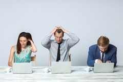 Business team working on their business project Royalty Free Stock Images
