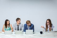 Business team working on their business project Stock Image