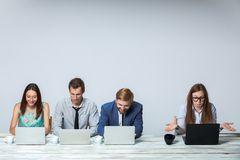 Business team working on their business project Royalty Free Stock Photos