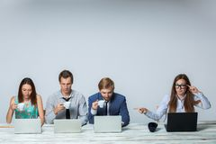 Business team working on their business project Royalty Free Stock Image
