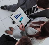 Business team working on their business project together at offi Stock Images