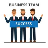 Business team. Working together. royalty free illustration