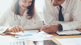 Business team working together at meeting of design ideas. royalty free stock image