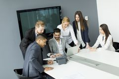 Business team working together to achieve better results Royalty Free Stock Images