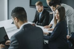 Business team working together to achieve better results Stock Image