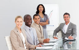 Business team working together in an office Royalty Free Stock Photo