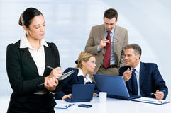 Business team working together in office Royalty Free Stock Photography
