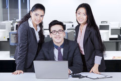 Business team after working together Stock Photo