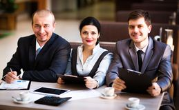 Business team working together Stock Photography