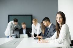 Business team working together to achieve better results Royalty Free Stock Image