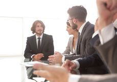 Business team at the workshop. Royalty Free Stock Photography