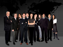 Business team worlwide Stock Photo