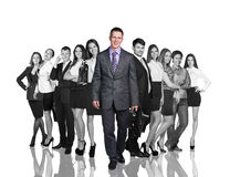 Business team of young businessmen Royalty Free Stock Images