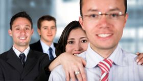 Business team - young entrepreneurs Stock Image