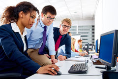Business team young people multi ethnic teamwork Stock Photos