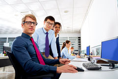Business team young people multi ethnic teamwork Stock Photo