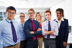 Business team young people standing multi ethnic Royalty Free Stock Photos