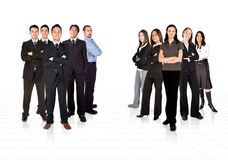 Business teams divided by men and women Royalty Free Stock Image