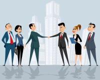Business teams leaders handshake Stock Photo