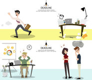 Business teams waiting co worker. Employees can`t deliver on schedule. Stock Photography