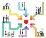 Business teams working together chart Royalty Free Stock Photo
