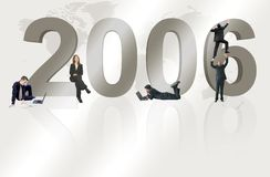 Business teamwork for 2006 Royalty Free Stock Photos