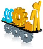 Business Teamwork. Three dimension style and high quality image Royalty Free Stock Photos