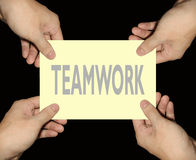 Business teamwork. Teamwork is the gateway to success Royalty Free Stock Image