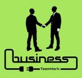 Business teamwork background flyer poster desig green Royalty Free Stock Photos