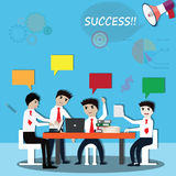 Business teamwork,business working and discussion - Vector. Illustration royalty free illustration