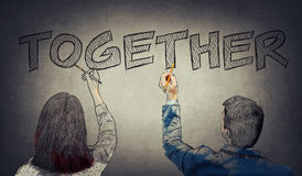 Business teamwork collaboration royalty free stock photos