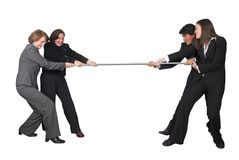 Business teamwork competition Royalty Free Stock Images