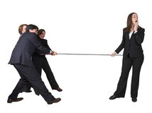 Business teamwork competition Stock Photo