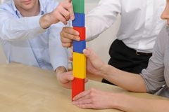 Business teamwork concept Stock Photography
