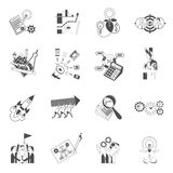 Business teamwork concept black icons set Royalty Free Stock Photo
