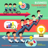 Business teamwork concept in flat design Stock Image