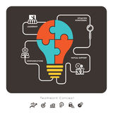 Business Teamwork Concept Graphic Element. Business Teamwork Concept with lightbulb icon Illustration Royalty Free Stock Images