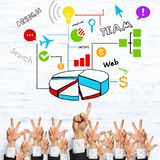 Business and teamwork concept Stock Photography