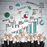 Business and teamwork concept Stock Image